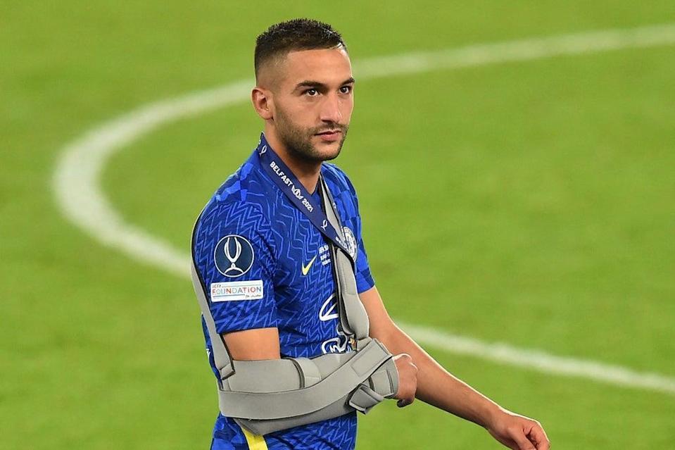 Tuchel admits that Hakim Ziyech's shoulder injury is worrying.