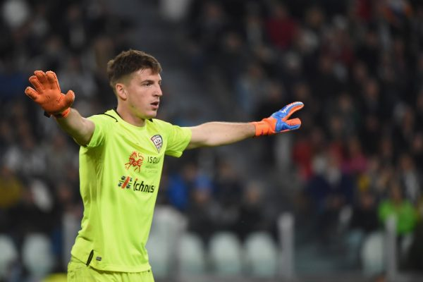 Italian Serie A club Cagliari are set to be without goalkeeper Alessio Cranho in the team's clash with AC Milan on Sunday.